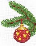 """Набор для вышивания """"Новогодний шарик со звездами"""""""