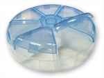 Коробка для бисера круглая пластик (7 ячеек)