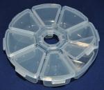 Коробка для бисера круглая пластик (8 ячеек)