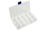 Коробочка для бисера пластик 15 ячеек