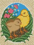 "Алмазная мозаика ""Пасхальные цыплята"""