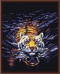"Алмазная мозаика ""Плывущий тигр"""