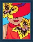 """Набор для вышивания """"Дама в шляпе"""""""