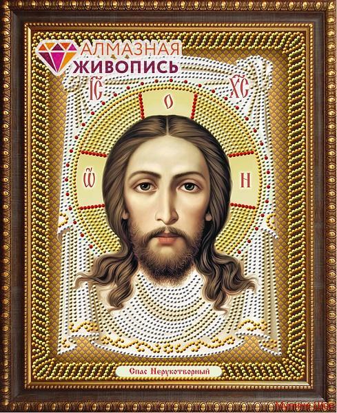 """Алмазная мозаика """"Икона Спас Нерукотворный"""""""