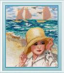 """Набор для вышивания """"Дама у моря"""""""
