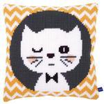 """Набор для вышивания Подушка """"Подмигивающий котенок"""""""