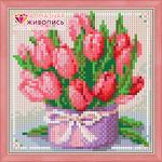 """Алмазная мозаика """"Тюльпаны в подарок"""""""