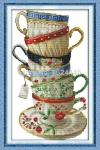 """Набор для вышивания """"Элегантные кофейные чашки"""""""