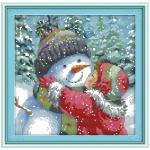 """Набор для вышивания """"Поцелуй для снеговика"""""""