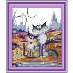 """Набор для вышивания """"Великолепная городская кошка"""""""