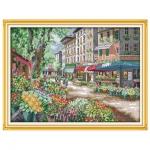"""Набор для вышивания """"Цветочный рынок Парижа"""""""