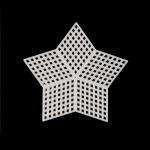 Канва пластиковая звезда 9х9 см