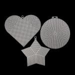 Канва пластиковая ассорти (сердце, круг, звезда) 15х13 см