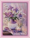 """Набор для вышивания """"Фиолетовая ваза"""""""