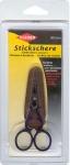 Ножницы для вышивания и рукоделия длина 9 см с кожаным чехлом