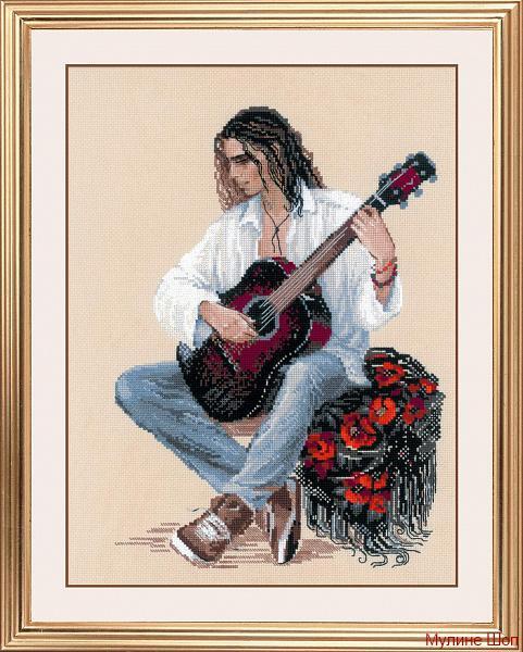 """Набор для вышивания """"Гитарист"""""""