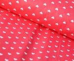 Ткань хлопок Сердечки, 125г/м², 100% хлопок, цв. 20 красный упаковка 150х300 см