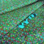 Ткань хлопок Цветочек-10511, 125г/м², 100% хлопок, цв.02 зеленый упаковка 3 метра при ширине 150 см