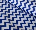 Ткань хлопок Зиг-Заг 1692, 125г/м², 100% хлопок, цв. 21 синий упаковка 3 метра при ширине 150 см