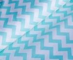 Ткань хлопок Зиг-Заг 1692, 125г/м², 100% хлопок, цв.16 мятный, упаковка 3 метра при ширине 150 см