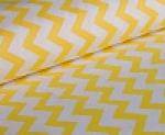Ткань хлопок Зиг-Заг 1692, 125г/м², 100% хлопок, цв. 08 желтый, упаковка 3 метра при ширине 150 см
