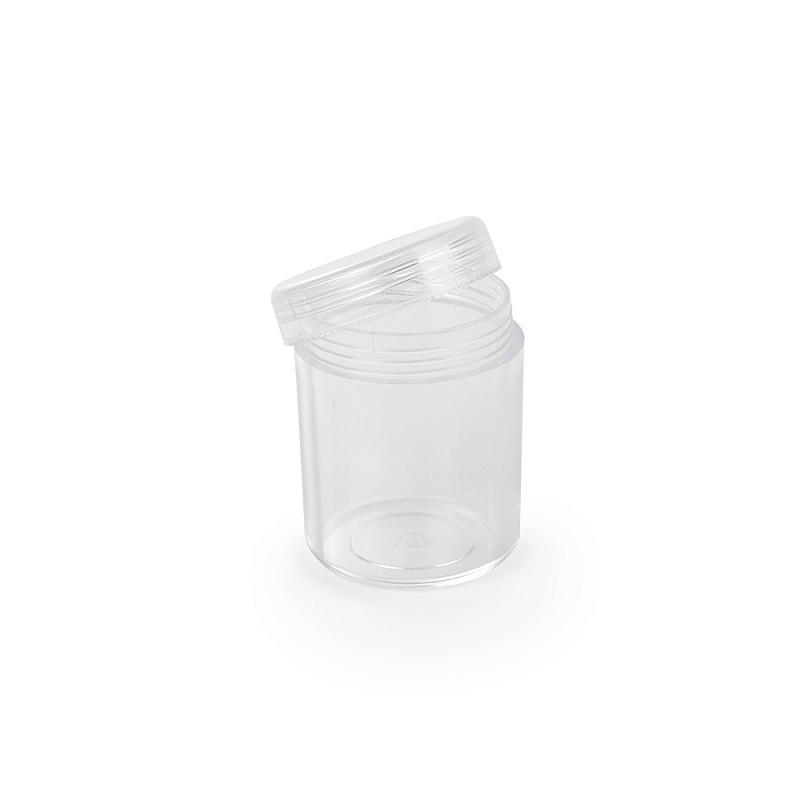 Баночки для бисера, акрил, цв.прозрачный, разм. 3,5х5 см, объем 20 г, уп.5 шт