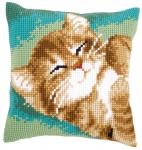 """Набор для вышивания Подушка """"Кот"""""""