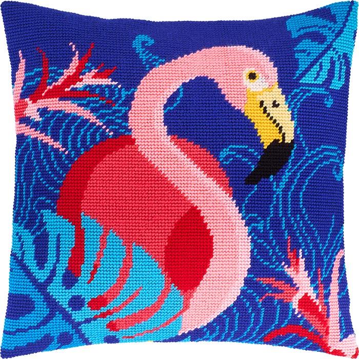 "Набор для вышивания Подушка ""Фламинго"""
