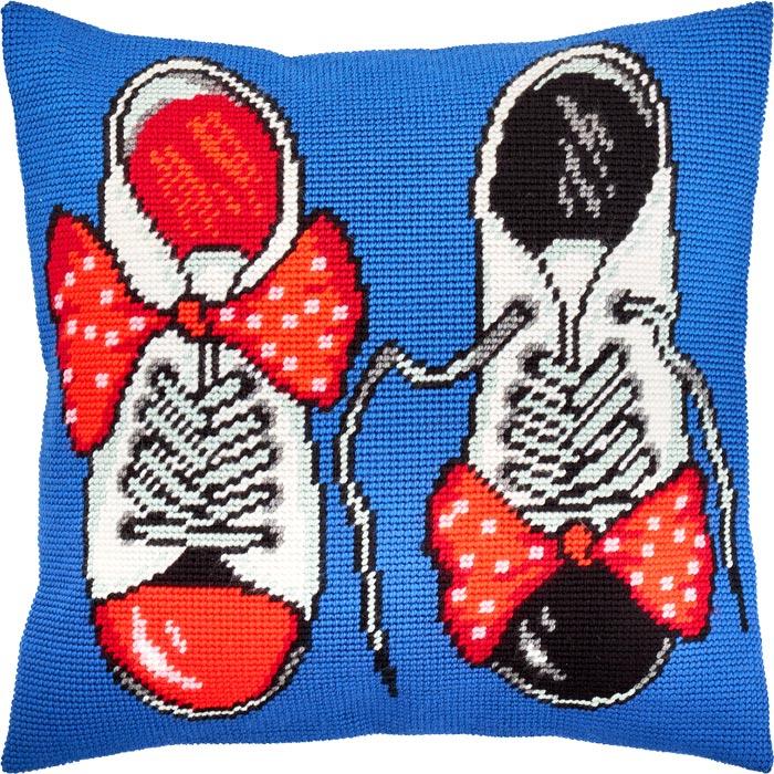 """Набор для вышивания Подушка """"Лаковые туфли"""""""