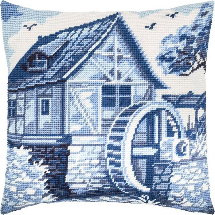 """Набор для вышивания Подушка """"Голландская мельница"""""""