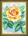"Канва с рисунком ""Жёлтая роза"""