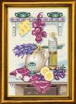 "Канва с рисунком ""Кухонный натюрморт с лавандой"""