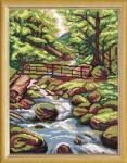 """Канва с рисунком """"Лесной ручей"""""""