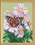 """Канва с рисунком """"Бабочка на покровке"""""""