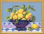 "Канва с рисунком ""Натюрморт Лимоны в вазе"""