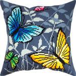 """Набор для вышивания Подушка """"Бабочки"""""""