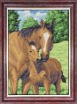 """Набор для вышивания """"Мамы и их зверята. Лошади"""""""