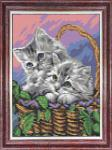 """Набор для вышивания """"Мамы и их зверята. Котята"""""""