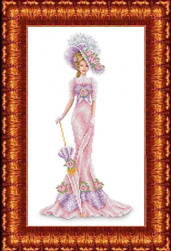 """Набор для вышивания """"Дама в розовом"""""""