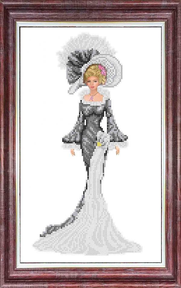 """Набор для вышивания """"Дама в вечернем платье"""""""