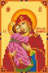 """Ткань с рисунком Икона """"Владимирская Божья Матерь"""""""