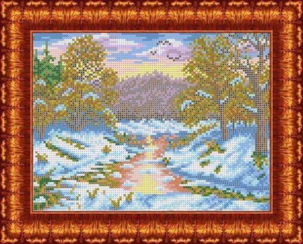"""Ткань с рисунком """"Первый снег"""""""