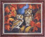 """Ткань с рисунком """"Две совы"""""""