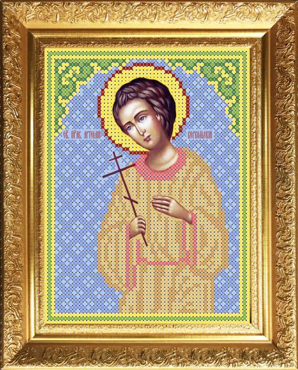 """Ткань с рисунком Икона """"Св Артемий"""""""
