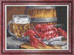 "Ткань с рисунком ""Пиво с раками"""