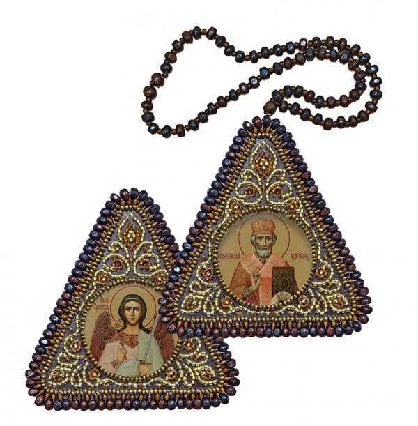 """Набор для вышивания Икона """"Св.Николай Чудотворец и Ангел Хранитель"""""""