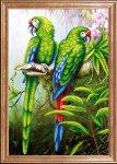 "Ткань с рисунком ""Пара попугаев"""