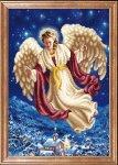 """Ткань с рисунком """"Ангел над городом"""""""