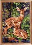 """Ткань с рисунком """"Два олененка"""""""