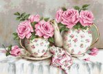 """Набор для вышивания """"Утренний чай и розы"""""""